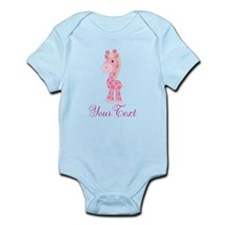Personalizable Pink Giraffe Body Suit