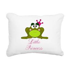 Little Princess Frog Rectangular Canvas Pillow