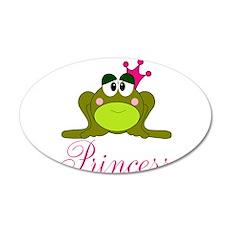Pink Crowned Frog Princess Wall Decal