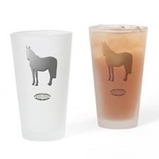 Horse Theme Design by Chevalinite Drinking Glass