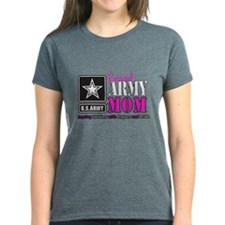 Proud Army Mom Pink T-Shirt