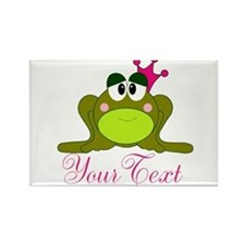 Personalizable Pink and Green Frog Magnets