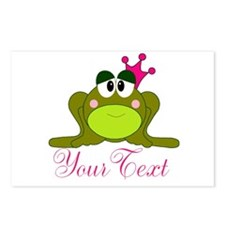 Personalizable Pink and Green Frog Postcards (Pack