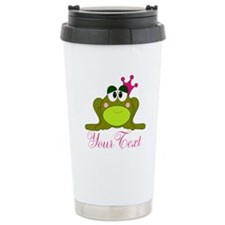 Personalizable Pink and Green Frog Travel Mug