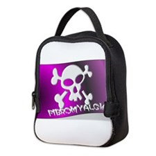 FIBROMYALGIA SKULL FLAG Neoprene Lunch Bag