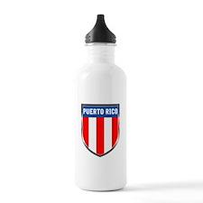 Puerto Rico Shield Water Bottle