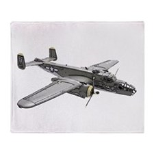 B-25 Bomber Throw Blanket
