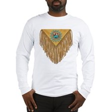 Hopi Sunface Leather Yoke Lng Slv TShirt