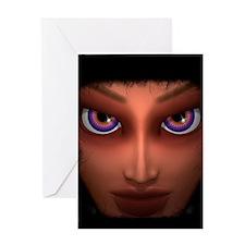 Mesmerizing Purple Eyes Girl Greeting Cards