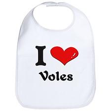 I love voles  Bib