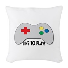 Live To Play! Woven Throw Pillow