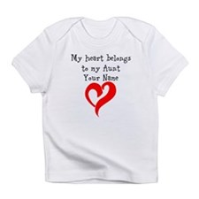 My Heart Belongs To My Aunt (Your Name) Infant T-S