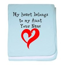My Heart Belongs To My Aunt (Your Name) baby blank