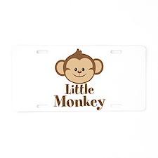 Cute Little Monkey Aluminum License Plate