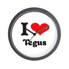I love tegus  Wall Clock