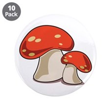 "Mushrooms 3.5"" Button (10 pack)"