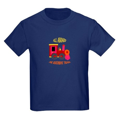 Train Birthday Kids Dark T-Shirt