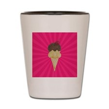 Ice Cream Cone on Pink Shot Glass