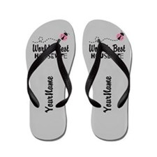 Worlds Best Wife Flip Flops