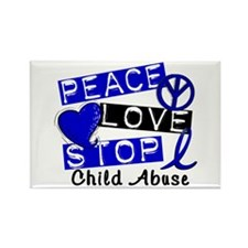 Peace Love Stop Child Rectangle Magnet (100 pack)