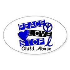 Peace Love Stop Child Abuse 1 Decal