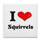 I love squirrels  Tile Coaster