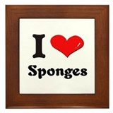 I love sponges  Framed Tile