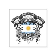 "Argentina Soccer Square Sticker 3"" x 3"""