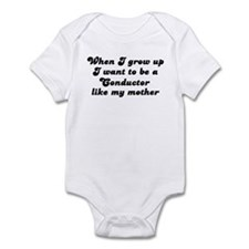 Conductor like my mother Infant Bodysuit