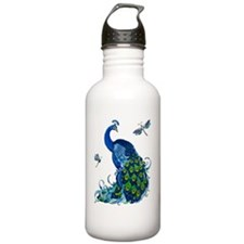 Blue Peacock and Drago Water Bottle