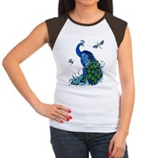 Blue Peacock and Dragon Tee
