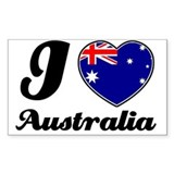 I love Australia Rectangle Decal