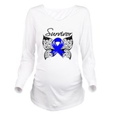 Survivor Colon Cance Long Sleeve Maternity T-Shirt