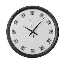 QR Code Large Wall Clock