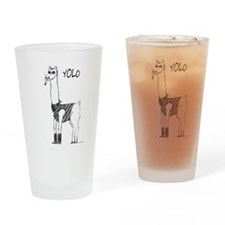 hipster lama Drinking Glass