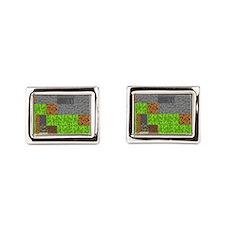 Pixel Art Play Mat Rectangular Cufflinks