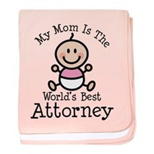 Best Attorney Mom baby blanket