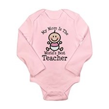 Best Teacher Mom Long Sleeve Infant Bodysuit