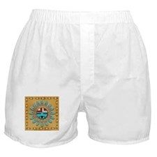 Hopi Sun Face on Leather Boxer Shorts