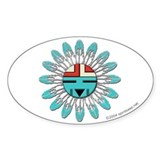 Hopi Sunface Oval Decal