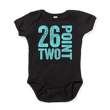 26.2 Marathon Running Motivation Baby Bodysuit