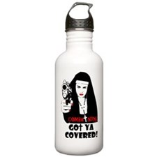 combat nuns-got ya cov Water Bottle
