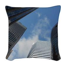 San Fran Skyscrapers Woven Throw Pillow