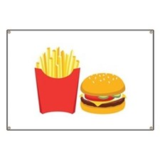 Fast Food French Fries Burger Banner