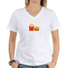Fast Food French Fries Burger T-Shirt