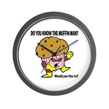 The Muffin Man Wall Clock