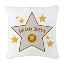 DRAMA QUEEN Woven Throw Pillow
