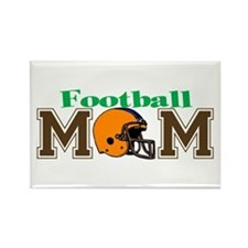 Football Mom II Rectangle Magnet