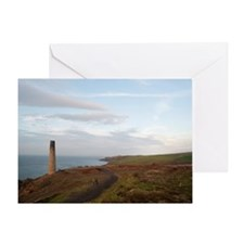 Calciner chimney, Levant mines Greeting Card