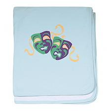 Happy Sad Drama Acting Theatre Masks baby blanket